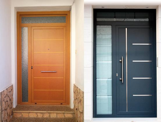 Puertas alumiroda carpinter a de aluminio albacete - Puertas de entrada de diseno ...
