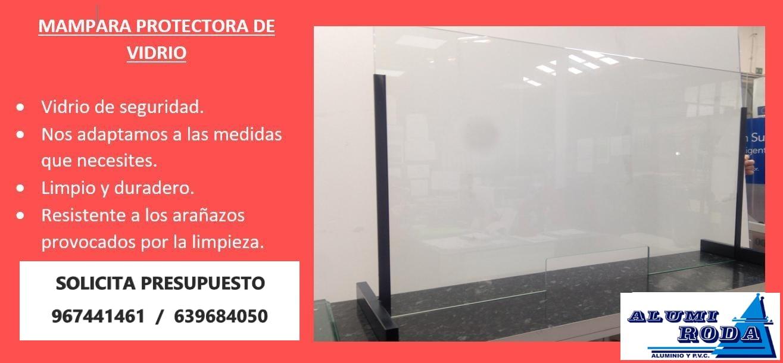 Mampara protectora de vidrio